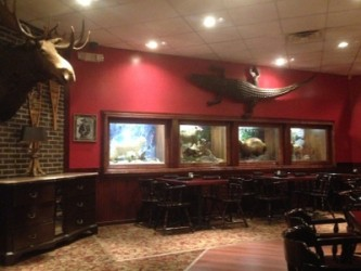 From northern moose to southern 'gators, Angus Steakhouse has much wildlife on display.