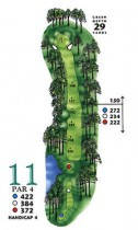 West Course at Myrtle Beach National Hole 11