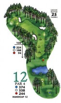 West Course at Myrtle Beach National Hole 12