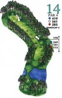 West Course at Myrtle Beach National Hole 14