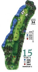 West Course at Myrtle Beach National Hole 15