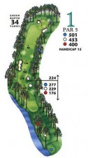 West Course at Myrtle Beach National Hole 1