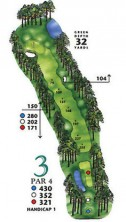 West Course at Myrtle Beach National Hole 3