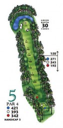 West Course at Myrtle Beach National Hole 5