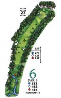 West Course at Myrtle Beach National Hole 6