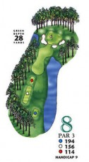 West Course at Myrtle Beach National Hole 8