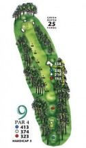 West Course at Myrtle Beach National Hole 9